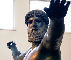 Artemision Zeus or Poseidon (detail from front close), c. 460 B.C.E.