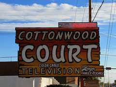 Cottonwood Court (reprise) (jimsawthat) Tags: urban newmexico santafe route66 neon motels metalsigns vintagesigns bypassed vintagemotels