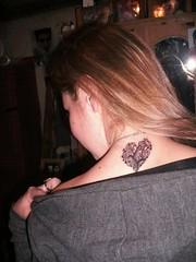 Small Heart Tattoos On Back Of Girl 067 (tattoos_addict) Tags: girl back heart small tattoos 067 skulltattoos hearttattoos keytattoos
