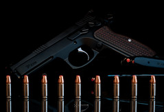 Tristar P-120 (Canik55 clone of CZ SP-01) (Staufhammer) Tags: black reflection hammer race magazine cherry key gun low duty pistol works cz fiber handgun combat ammo 75 critical 85 cajun gat sights ammunition tristar trigger frag 9mm firearm optic grips sear p120 hornady 85c cgw vz sp01 cz75 vzgrips canik canik55