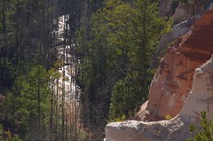 Water and Time (Get The Flick) Tags: sunset creek ga georgia erosion pines pinetrees providencecanyon kaolin redgeorgiaclay stewartcountygeorgia providencecanyonstateoutdoorrecreationarea