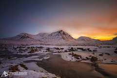 Glen Etive (Martin Steele.) Tags: sunset mountain scotland fort william glen glencoe mor buachaille etive munro criese