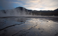 Tatio geysers, Atacama, Chile (Miche & Jon Rousell) Tags: chile southamerica argentina sunrise reflections steam atacama andes sanpedrodeatacama geysers tatiogeysers atacamadesert