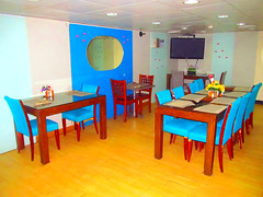 Dining area for SR and Tourist Passengers (Irvine Kinea) Tags: world voyage travel bridge cruise pope station saint ferry john paul island restaurant cafe stem cabin ramp asia ship fiesta state desk room horizon philippines arcade vessel super front tourist class hallway lobby deck gaming alleyway tatami vip trips hippo mast value suite accommodation tours stern propeller console augustine economy navigation charging rudder nn mega negros ats aft forecastle amenities 2go nenaco
