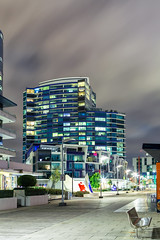 The Conder - Docklands (Bacoon) Tags: longexposure arquitetura architecture arquitectura nightlights newquay australia melbourne victoria docklands 3008 monumentpark nightimage conder newquaypromenade charlesconder mabcorporation