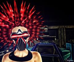 Sabrymoon wearing Boutique 187 Cyborg Mask @ Cyberz Event and Zibska Rhea Hair (Two Too Fashion) Tags: fashion mask style fantasy secondlife cyber stylish secondlifemodel cybermask zibska boutique187 cyberzevent cyborgmask rheacolorchangehair