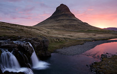 Kirkjufell - Iceland (Bill Higham) Tags: reflection sunrise dawn waterfall iceland stream kirkjufell