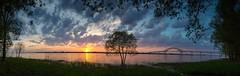 Trois-Rivires (Danny Lamontagne) Tags: sunset sky orange sun tree water canon river soleil eau coucher ciel nuit arbre fleuve