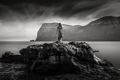 Kpakonan (Seal Woman) (mike-mojopin) Tags: longexposure sea blackandwhite seascape statue faroeislands sealwoman kpakonan
