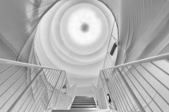 Christo's white magic dome (Blende1.8) Tags: white art germany deutschland nikon stair kunst sigma wideangle indoor stairway treppe nrw weiss rund ruhrgebiet 1224mm oberhausen christo d800 gasometer aktionskunst ruhrpott stoff weis verhüllt 2013 rotunde sigma1224mmhsmii carstenheyer