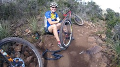 And sometimes this happens. (thor_larsen) Tags: mountainbike wife oops flattire sanluisobispo mtnbike ladiesride
