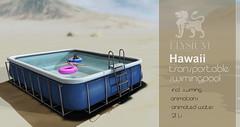 Hawaii swiming pool for Cosmo (>Ale<) Tags: new summer pool swim relax cosmopolitan mesh avatar content sl secondlife elysium creator swimingpool transportable lindenlab virtualworld aleidarhode originalmesh