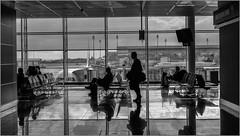 Das große Warten auf dem Abflug, Flughafen München (ludwigrudolf232) Tags: