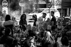 Biker & Rock (Nicols Rosell) Tags: barcelona street city urban espaa blancoynegro rock calle spain nikon europa europe ciudad catalonia urbana catalunya bikers moteros d7100 blackwhrite nikond7100