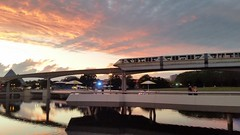 20151001_192236 (Passport to the Parks) Tags: sunset epcot dusk monorail