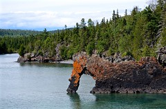 Sea Lion (htaylor27) Tags: park sleeping sea summer lake ontario canada nature rock giant bay lion superior geology thunder provincial