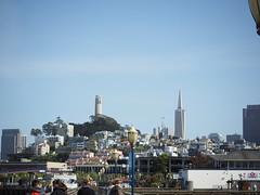 Coit Tower via SF Wharf Area (meaxsom) Tags: coittower fishermanswharf pier39