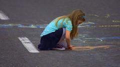 Road Work (Scott 97006) Tags: road street art colors chalk kid artist