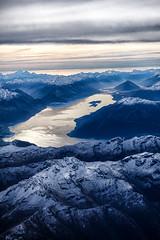 Lake Wakitipu, Queenstown airial (kiwigran) Tags: queenstown airial snowcappedmountains southislandnewzealand lakewakitipu