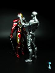 Daddy Issues: SH Figuarts Iron Man Mk 45 & Ultron Prime (Kev H) Tags: ironman marvelcomics bandai warmachine theavengers ultron shfiguarts