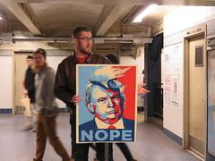 Nope ! (tofz4u) Tags: nyc usa streetart ny newyork unitedstatesofamerica donaldtrump trump nope artderue tatsunis