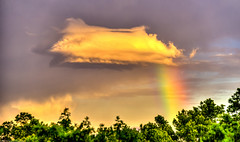 Landing or Taking off? (mbfirefly) Tags: nature colors clouds wonder amazing rainbow shy drama hdr 3fhdr