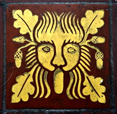 Winterbourne Monkton, Wiltshire (Sheepdog Rex) Tags: tiles greenman winterbournemonkton stmarymagdalenechurch