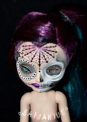 Dead & Lovely (saijanide) Tags: nude de dead skull los high doll artist dolls day ooak evil dia sugar queen muertos customized after custom nudity raven ever calaveras repaint eah saijanide