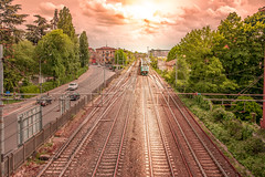 Train in Modena City (maka3110) Tags: italien italy train photoshop nikon zug ferrari modena hdr regioemilia
