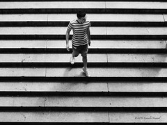 Stripes (CVerwaal) Tags: nyc blackandwhite usa ny newyork stairs centralpark bethesdaterrace olympusem5 mzuiko25mmf18