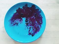 Post-pancakes (dinarollheim) Tags: blue food dinner blues foodart blueberries
