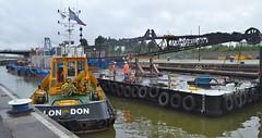 SWS Breda (2) @ KGV Lock 27-06-16 (AJBC_1) Tags: uk england london boat ship unitedkingdom vessel docklands tugboat tug eastlondon nikond3200 northwoolwich newham royaldocks multicat pushertug londonboroughofnewham cranebarge marineengineering multipurposevessel fortholympian swalshsonsltd kgvlock forthtrojan dlrblog londonsroyaldocks ajc kinggeorgevlock swsbreda briggsmarineandenvironmentalservices swssuffolk