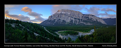 Sunrise with Tunnel Moutain Hoodoos, view of the Bow Valley, the Bow River and Mt. Rundle, Banff National Park, Alberta (kgogrady) Tags: trees panorama canada mountains clouds sunrise landscape spring nikon pano noone ab nopeople alberta banff peaks nikkor fx bowriver mountrundle hoodoos d800 banffnationalpark parkscanada mtrundle tunnelmountain canadianrockies 2016 westerncanada bowvalley canadianmountains canadianlandscapes albertariver albertalandscapes d800e nikon2470mmf28fxafsgednikkor canadianrockieslanscape