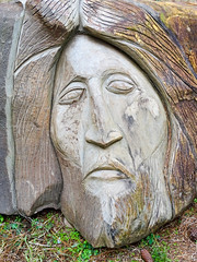 head in stone