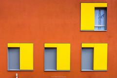 ..:: ˥ ˥ ˥ ::.. (bora_binguel) Tags: orange window lines yellow architecture germany bayern deutschland bavaria fenster cam nuremberg gelb architektur forms farbe muster nürnberg nuernberg mimari sarı formen linien pencere almanya turuncu bobidigitalphotography