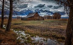 Teton October (David Recht) Tags: barn wyoming grandtetonnationalpark mormonrow