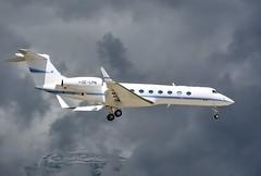 OE-LPN Global Jet Austria Gulfstream GV-SP. (Austyn Pratt) Tags: plane airplane geneva aircraft aviation flight aeroplane gulfstream bizjet privatejet corporatejet ebace oelpn