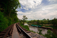Along the River Kwai (snksinicksink192) Tags: bridge river thailand riverside railway kanchanaburi traveler kwai traval