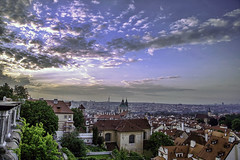 A morning in Hradany, Prague (rayordanov) Tags: morning sky clouds prague hradany