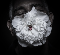 wiley-2066-2 (benjireid300) Tags: old white man black flower colour beauty mouth manchester eyes emotion gray story powerful