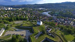 The Fortress from above (spfoto) Tags: city norway cityscape air trondheim kristiansten festning