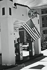 Old Glory (Explore Girl2016) Tags: blackandwhite history monochrome canon shadows flag americanflag patriotic smalltown oldtime marklll