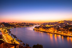 Porto at dusk (Kuba Abramowicz) Tags: porto portugal europe european eu europa dusk nikon night nikkor nikor twilight travel long exposure light river rio douro ponte luis bridge reflection reflections reflect sky skyline city cityscape cityline d610 2470 kuba abramowicz architecture scenery scenic view vista glow
