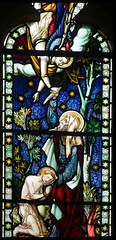 The intervention of angels: Abraham about to sacrifice his son Isaac (Hardman & Co, 1872) (Simon_K) Tags: cambridge church university churches colleges stmichael cambridgeshire eastanglia cambs michaelhouse churchess