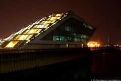Dockland (Vahan Aghajanyan) Tags: light building night germany deutschland licht hamburg hafen dunkel  dockland
