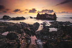 Morning Sunrise Pandak (Adly Wook) Tags: longexposure trip travel red sea sky seascape motion reflection art texture beach nature water rock stone sunrise landscape seaside exposure natural outdoor tripod explore getty serene tone terengganu explored leefilter rgnd sighray