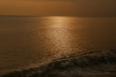 Sunset over West Bay, Dorset, UK (crafty1tutu (Ann)) Tags: ocean travel sunset sea england holiday water waves glow unitedkingdom dorset westbay 2015 anncameron canon5dmkiii crafty1tutu canon28300lserieslens