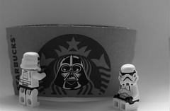 Dark Bucks (Meculda) Tags: star lego stormtrooper wars figurine strarbucks vador darkvador