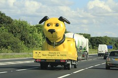 Woof Woof (ekawrecker) Tags: motorway m6 iveco donate hv65ouc