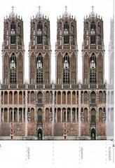 Utrecht (Steenvoorde Leen - 2.1 ml views) Tags: cards utrecht domtoren postcard card ansichtkaart domtorenin3d